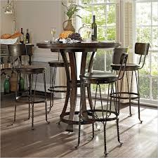 Kitchen With Bar Table - special round pub table and chairs design ideas and decor