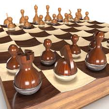 Buy Chess Set by 3d Model Wobble Chess Set Cgtrader