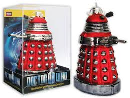 new dr doctor who dalek 12 5cm glass ornament