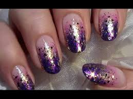 easy nail art glitter simple glitter gradient nail art design easy ombre summer party