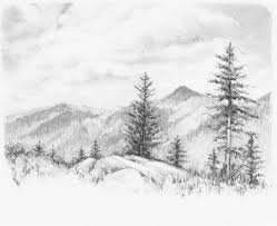simple nature drawing scenery pencil drawings pencil sketch
