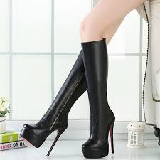 womens boots no heel 16cm high height boots s heels platform stiletto heel