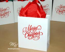 christmas gift bag christmas gift bag etsy