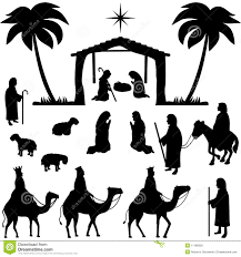 three wise men on camel back silhouette stock vector image 35210349
