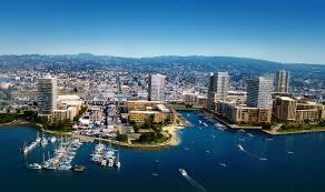 Oakland California Map Brooklyn Basin Coastline Meets Skyline