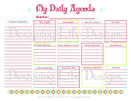 daily agenda printable planner page pdf to do list il full saneme