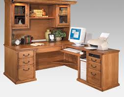 desk white wooden computer desk with triple hutch beside the