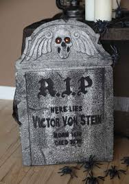 cemetery fence halloween prop rip tombstone