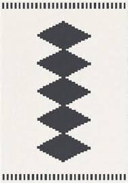 tappeti moderni bianchi e neri tappeto geometrico nordic bianco con rombi neri 160x230 cm