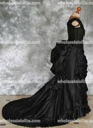 Wedding Dress With Train Gothic Victorian Bustle Gown With Train Vampire Ball Masquerade