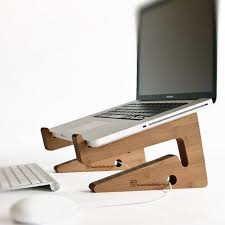 Laptop Riser For Desk Wood Laptop Stand Notebook Riser Beautiful Simple And