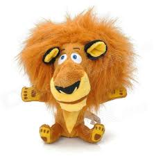 cute lion shaped pp cotton plush toy brown yellow black