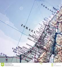 Map Of Isreal Detailed Map Of Israel Stock Photo Image 45142975