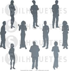 party silhouette silhouette clipart of a collection of gray silhouetted people at a