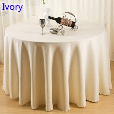 Table Runners For Round Tables Ivory Colour Wedding Table Cover Table Cloth Polyester Table Linen
