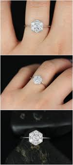 low priced engagement rings best 25 cluster engagement ring ideas on