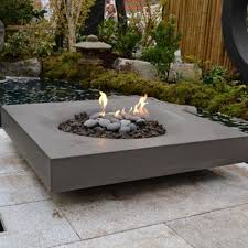 Firepit Coffee Table Amusing Gray Large Square Low Contemporary Cemment Outdoor Coffee