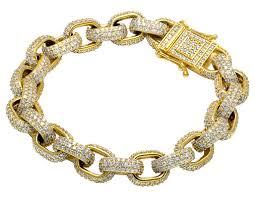 gold bracelet hermes images Mens anchor link hermes rolo diamond bracelet mens 14k yellow gold jpg