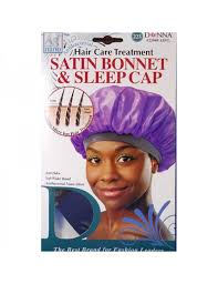 donna hair donna hair care treatment satin bonnet sleep cap 22050 black