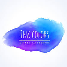 blue watercolor paint vector free download