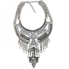 silver boho necklace images Falkor aztec totem western silver boho edgy statement necklace jpg