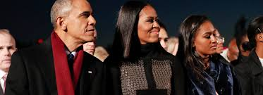 obama family lites the national christmas tree for the final time