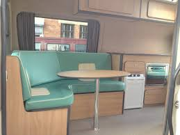 sprinter van conversion floor plans 50 u0027s style diner booth in vw crafter camper conversion busstopvw