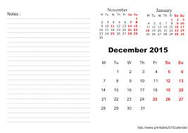december 2015 calendar printable version best photos of printable calendar december 2015 january 2016