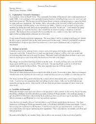 business plan format letter template sample pdf ppt to make a best