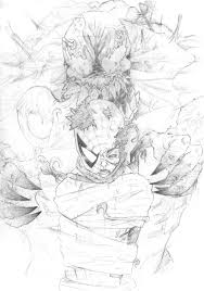 spider man vs venom sketch by wolf166 on deviantart