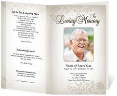 funeral program sles best photos of obituaries templates for men tri fold funeral