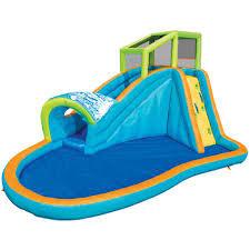 water slide bounce house bouncer jumper waterslide backyard kids pool