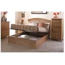 murcia oak double wooden storage bed frame bigmickey ie