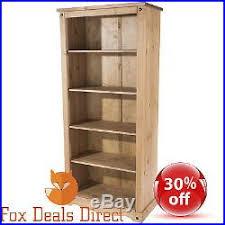 Bookcase Pine Wooden Shelving Unit Bookcase Pine Premium Corona Large Rustic