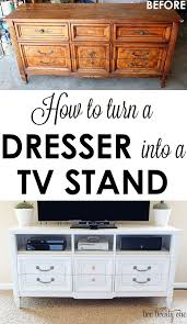 Turning Dresser Into Bookshelf How To Turn A Dresser Into A Tv Stand Diy Tv Stands Dresser