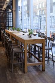high bar table and chairs 156 best wooden cafe restaurant furniture images on pinterest