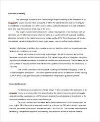 executive summary template 8 free word pdf documents download