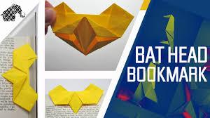 halloween bookmarks origami how to make an origami bat bookmark halloween youtube