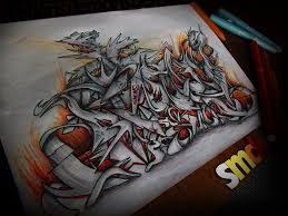 demons graffiti sketch by smeckin on deviantart