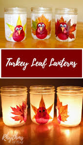 turkey leaf lanterns thanksgiving craft autumn nature nature