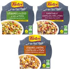 plat cuisiné manger veggie avec les nouveaux plats cuisinés bio tartex a