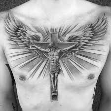 collection of 25 cross wings on chest