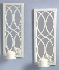 Mirrored Wall Sconce Sconces Candle Wall Decor Mirrored Wall Sconce Candle Holder