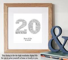 20 years anniversary gifts best 25 20th anniversary gifts ideas on 20th