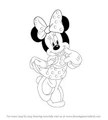 coloring glamorous minie mouse drawing walt disney minnie