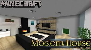 Modern Houses Minecraft Modern House Ep2 Minecraft Inside Out Youtube