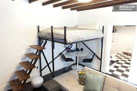 queen bed loft bed queen size steel factor