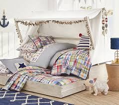 Kids Platform Bed Wyatt Canopy Bed And Trundle Pottery Barn Kids