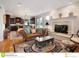 family room and kitchen together stock photography image 12655372