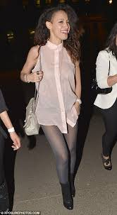 see thru blouse pics daring sugababe amelle struts stuff in a see through blouse